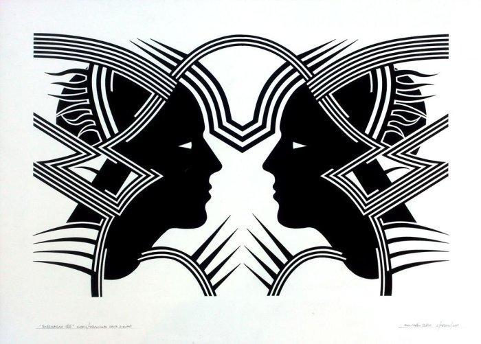 RORSCHACH VIII, gouache papel 70 x 50 cms
