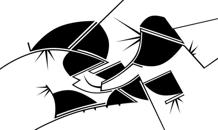 SERIE CARMINA BURANA, acrilico lienzo sobre DM 100 x 58 cms (4)