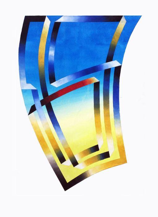 SERIE PALERMO - EL ORO DEL RIN 2014, acrilico, lienzo,70 x 100 cms.