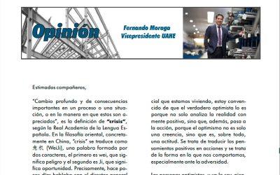 Fernando Moraga firma la editorial de la revista Infoacero