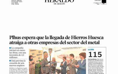 Plhus espera que la llegada de Hierros Huesca atraiga a otras empresas del sector metal