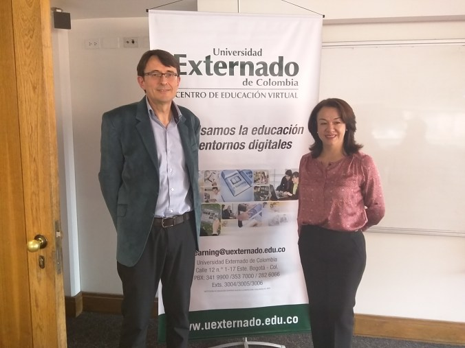 Conferencia en la Universidad Externado de Colombia