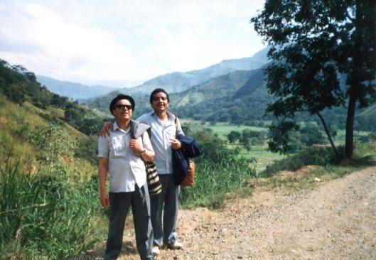 Allá, con mi viejo, camino hacia Capira