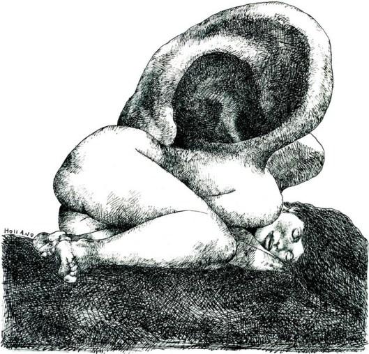 Ilustración de Brad Holland