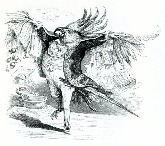 Ilustración de Jean-Ignace-Isidore Grandville