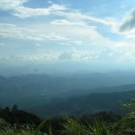 Bester Ausblick auf Chiang Mai - nach dem Tempel What Phra Doi Suthep, immer weiter den Berg hinauf