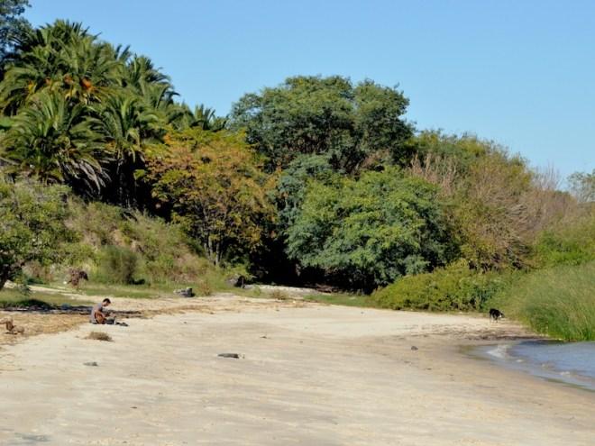 Am Strand von Playa urbana Las Delicias waren wir fast allein