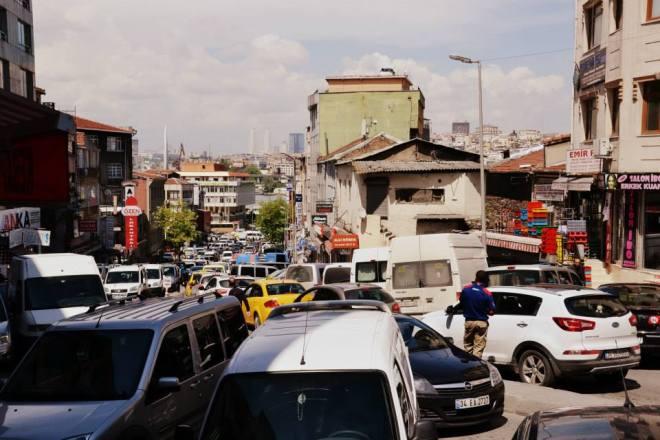 Verkehr in Istanbul ist nicht ohne