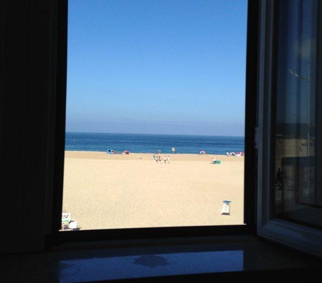 Ausblick vom Hotelzimmer in Nazaré, Portugal