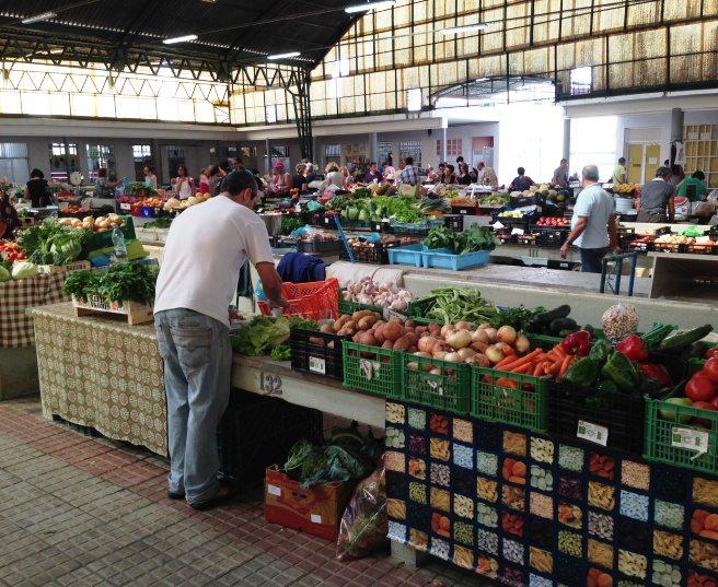 Der Markt von Nazaré, Portugal