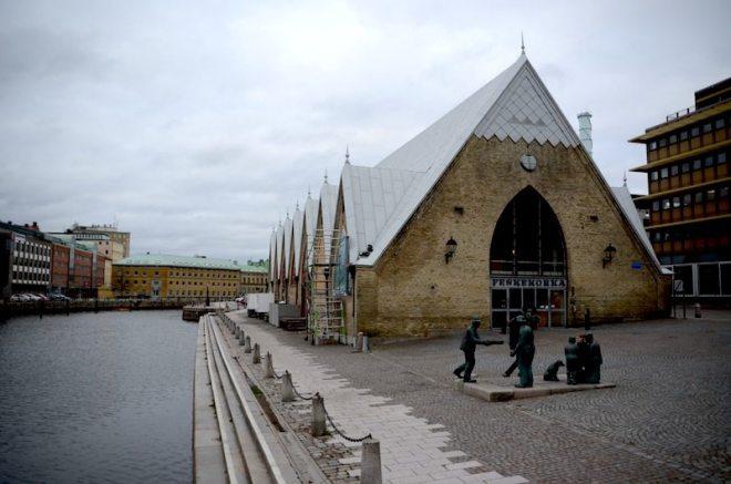 Fischhalle Feskekörka in Göteborg