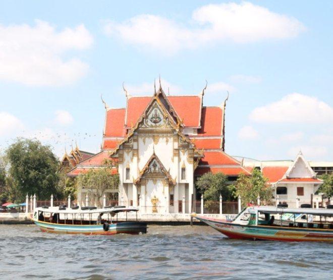 Bangkok vom Fluss aus, Thailand