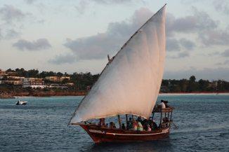 Ein Fischerboot in Nungwi auf Sansibar