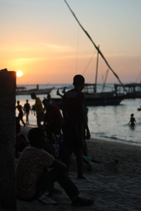 Stone Town: Strand Sansibar