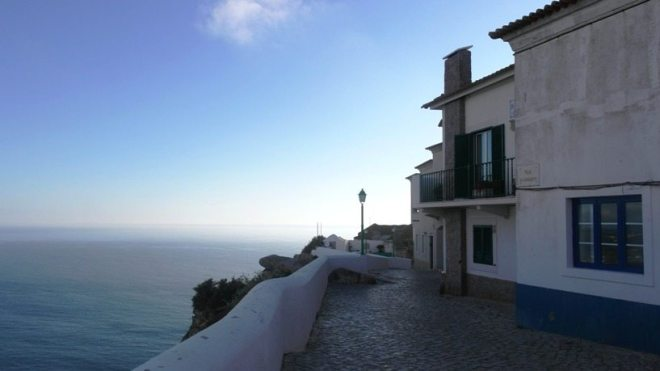Stadtteil Sitio auf dem Berg, Nazaré Portugal