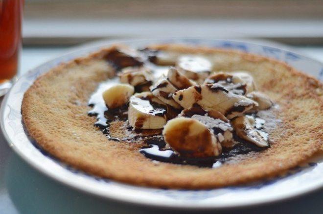 Echt leckere Pfannkuchen in Roghs Deli - die herzhaften waren aber auch gut