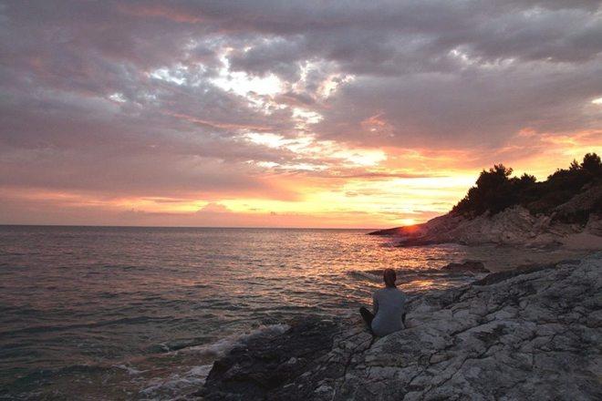 Sonnenuntergang am Kap Kamenjak in Istrien - Kroatien
