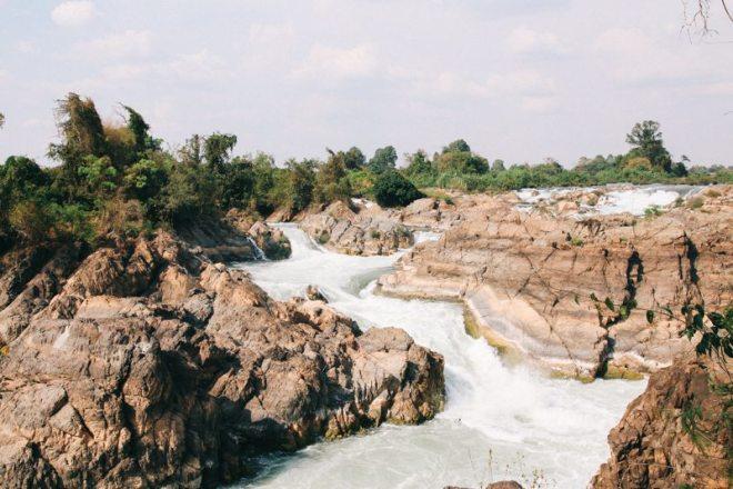 Tad Somphamit Wasserfall auf Don Khone - Highlight Laos-Reise