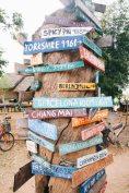 Wegweiser - Don Det 4.000 Islands im Süden von Laos