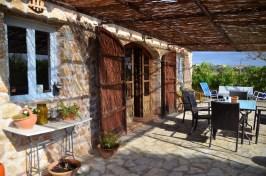 Romantische Terrasse im Ferienhaus auf Mallorca