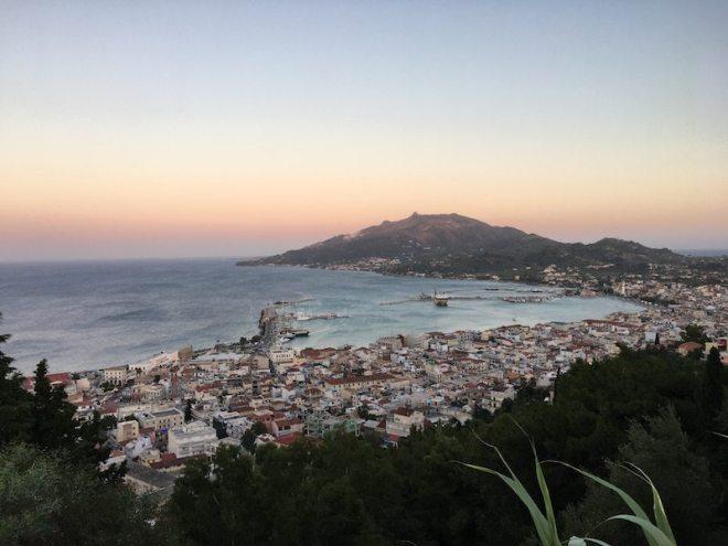 Schöne Aussichten auf der Insel Zakynthos - hier von der Bochali Festung