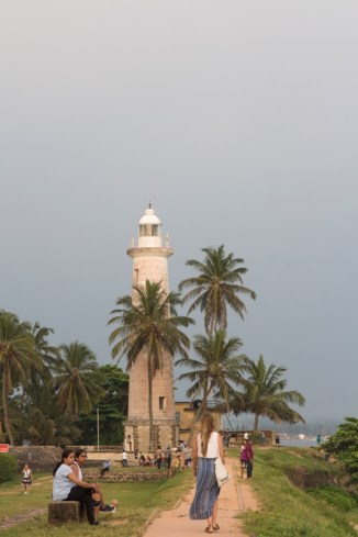Sri Lanka Backpacking Tipp: Galle und sein Leuchtturm bei Sonnenuntergang