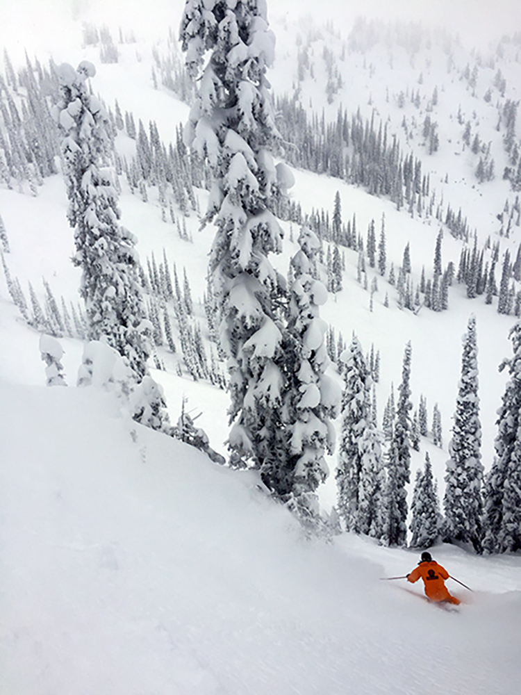 Skier Ross Jansen making tracks!