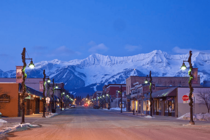 Fernie downtown & Lizard Range