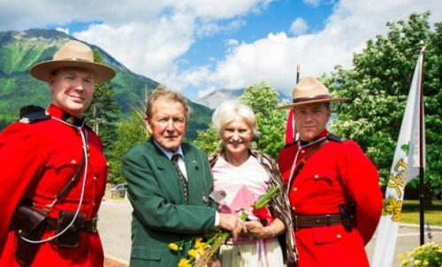 Heiko Socher and wife, Linda, in 2012 when Heiko received the Queen's Diamond Jubilee medal with Linda
