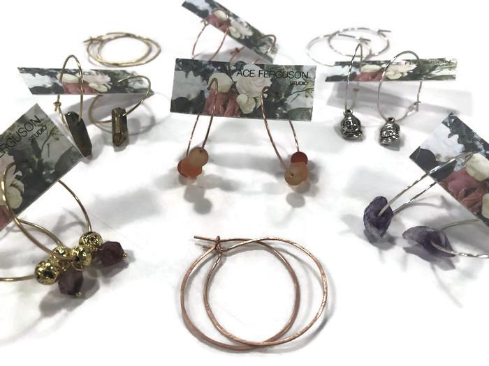 Hammered Hoop Earrings Workshop