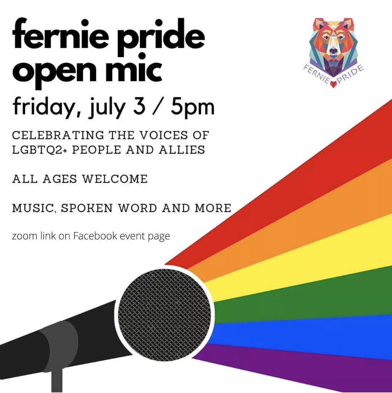 Fernie Pride Open Mic Evening