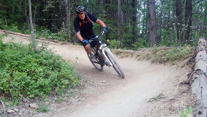 ron biking