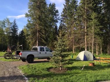 Fernie tent camping