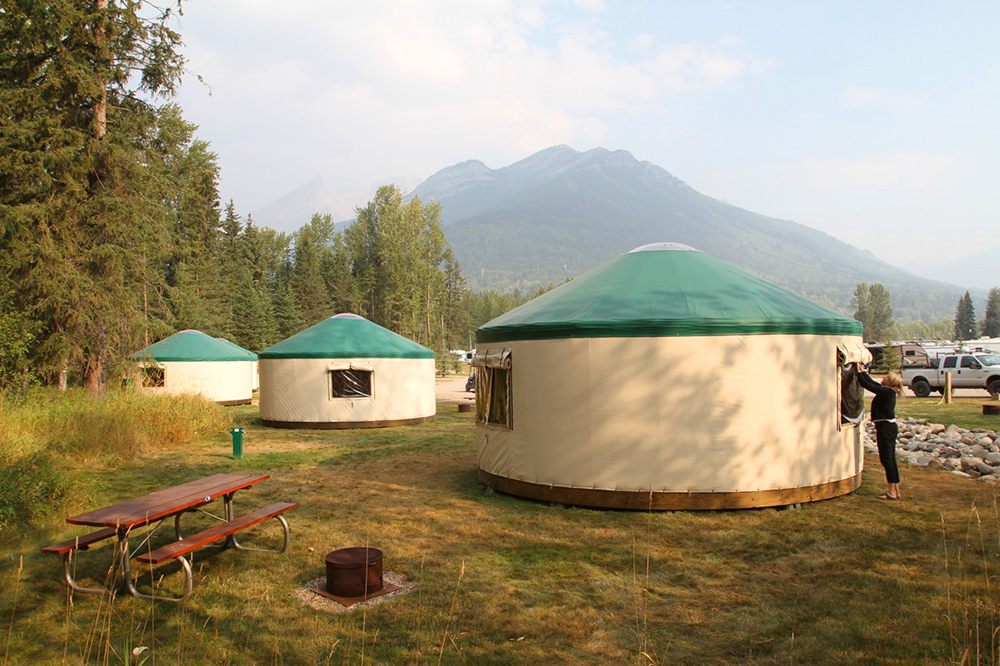 Yurts available for booking year around!