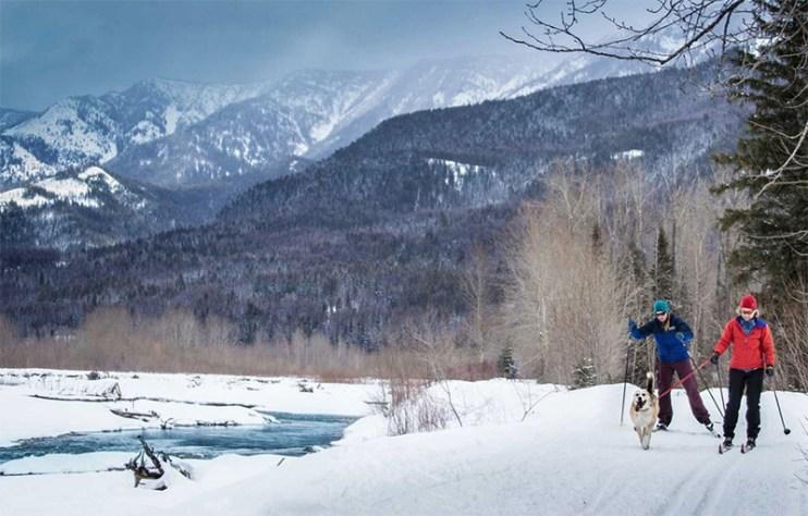 Fernie nordic skiing riverside