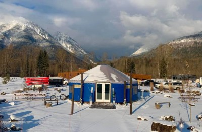 Mountain High Adventure Center yurt