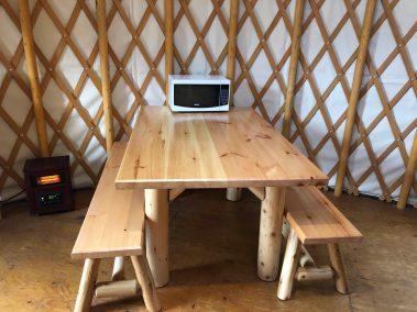 Fernie Yurt table