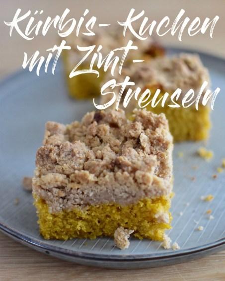 Saftiger Kürbis-Kuchen mit Zimt-Streuseln