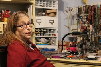 Susan Working at her workbench