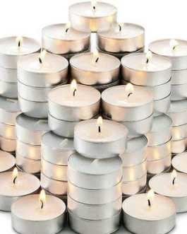 DIWALI DECORATION WHITE CANDLE