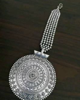 Chakri Style Maang Tikka : Bejeweled with Pearl Chain