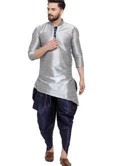 Lifestyle Men's Self Design Kurta and Dhoti Pant Set