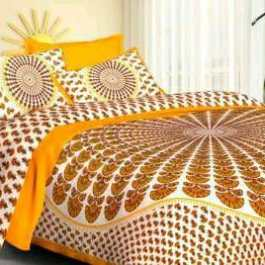 Stylish Double Bedsheet 2 Pillow Cover