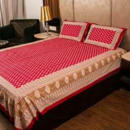Printed Double Bedsheet With 2 Cover Pillow