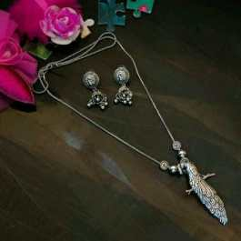 Peacock Silver Oxidised Jewelry