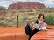 Thelma Bravington at Uluru.
