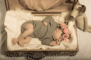 Baby im Koffer