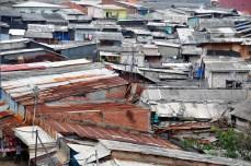 Dächer in Jakarta, Indonesien