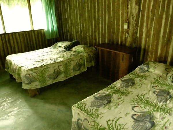 Cabanas Calakmul Mexiko Schlafzimmer Betten