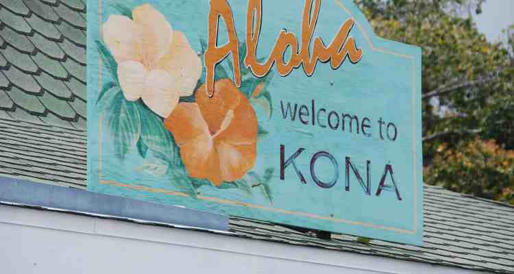 00 Welcome to Kona Maui Hawaii USA